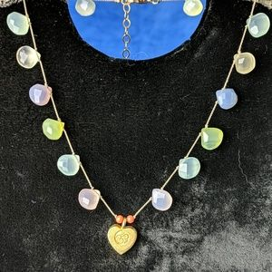 Vintage Faceted Teardrop Crystal Necklace